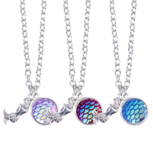 Sale Mermaid Necklace for women Shimmery Scales Fish girls pendant 2018 New gifts