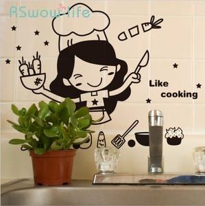 Image 1 - الإبداعية لطيف المطبخ الجدار ملصق للإزالة مقاوم للماء المطبخ الجدار ملصق ديكورات منزلية للمنتجات المنزلية