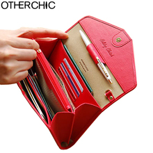 OTHERCHIC Women Long Clutch Wallets Phone Pocket Passport Cover Holder Ladies Wallet Zipper Wallet Purse Female Purses 6N07-12