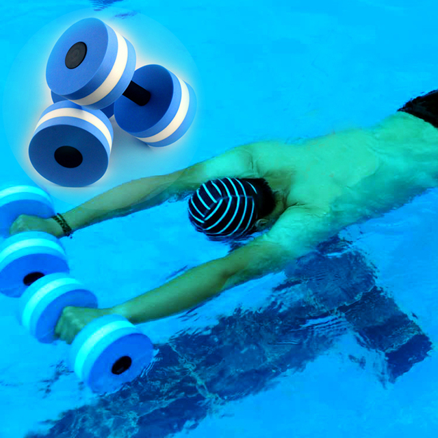 b48f3a606d1 1 Pair Sport Water Weight Aerobics EVA Dumbbell Meduim Aquatic Barbell  Fitness Aqua Pool Exercise Training Fitness Equipment