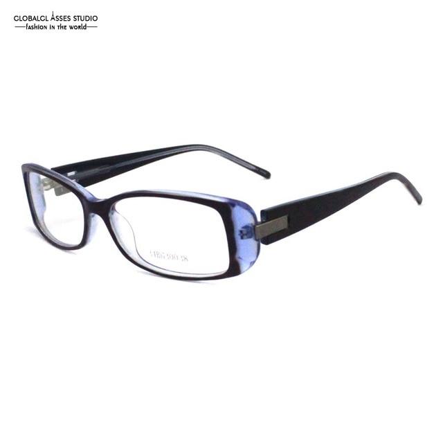c24525be87 High Quality Big Rectangular Acetate Glasses Frame Men Worker Blue on  Crystal Thick Temple Optical Eyeglasses