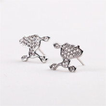 925 Jewelry Silver Plated Stud Earings For Women Girl Summer Style Ball Earring Ear Studs