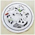 Esteira do Jogo do bebê Cobertor Do Bebê Inverno Crianças Quarto Tapete Macio jogos de Viagem Tapete Tapete Redondo zak bebek battaniye Cama de brinquedo de presente