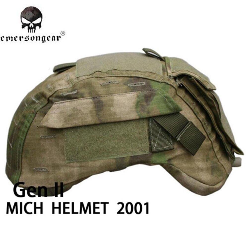 Prix pour Emerson Tactique Couvre-casque pour MICH 2001 Ver2 Couverture De Tissu Sports de Plein Air Chasse Wargame Casque De Protection Accessoires