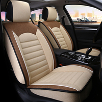 5PCS Standard Universal Automobiles Seat Covers Super Breathable Linen Fabric Car Seat Cover For Four Season