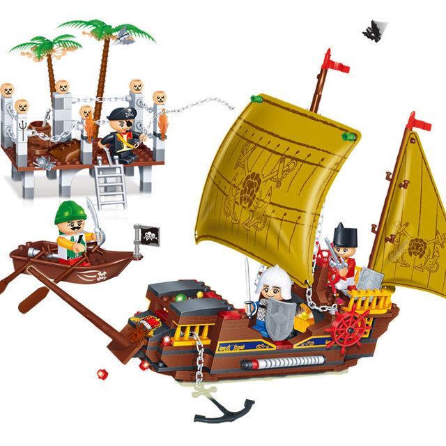 Pirate Sailboat Blocks Set