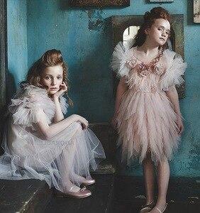 Image 4 - Chaleco de niña para vestido de fiesta de boda, tutú suave, capa de princesa para niños, 80 140cm, E81229