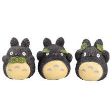 Cartoon Japan Style Mini Totoro Figurines Decor Do not Listen/Speak/Look Miniature Resin Craft Children New Year Christmas Gifts