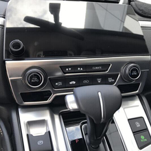 For Honda CR-V CRV 2017 Accessories Stainless Steel Car Console Central Control Rotary Frame Panel Cover Trim Styling
