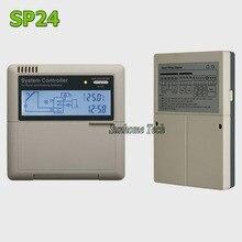 Солнечный водонагреватель контроллер SP24, 110/220 В, ЖК-дисплей, 3 датчика входа, 2 реле и 1 вспомогательный выход нагрева