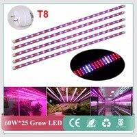 Süper 85 ~ 265 V 1.2 m SMD2835 60 W Led bar sert şerit Işık Büyümek 600 leds kırmızı/mavi/beyaz/sıcak beyaz için sera Topraksız bitki