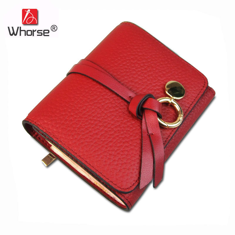 [WHORSE] New Fashion Genuine Leather Wallet Women Luxury Brand Ladies Cowhide Wallets Small Short Card Holder Purse Bag W1010 2017 new cowhide genuine leather men wallets fashion purse with card holder hight quality vintage short wallet clutch wrist bag