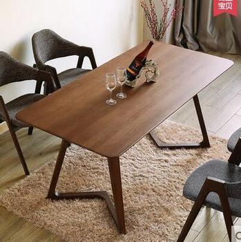 Stół do jadalni s meble do jadalni meble domowe z litego drewniany stół do jadalni stolik minimalistyczny nowoczesne 120*65*75 cm tanie i dobre opinie Meble do domu Jadalnia meble pokojowe Minimalistyczny nowoczesny 120*65*75cm China Drewna Drewniane Ecoz Brzoza Z litego drewna