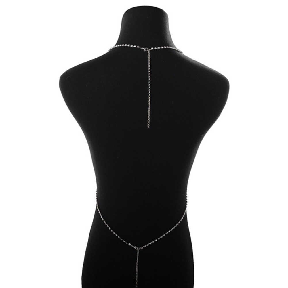 חדש אופנה נשים מלא ריינסטון ביקיני רתם חזיית חזה גוף כוס שרשרת שרשרת תכשיטים
