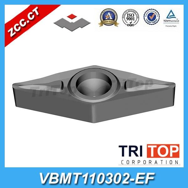 Original ZCC CT carbide cutters zcc ct PVD Coating VBMT 110302 EF YBG205 10pcs Lot positive