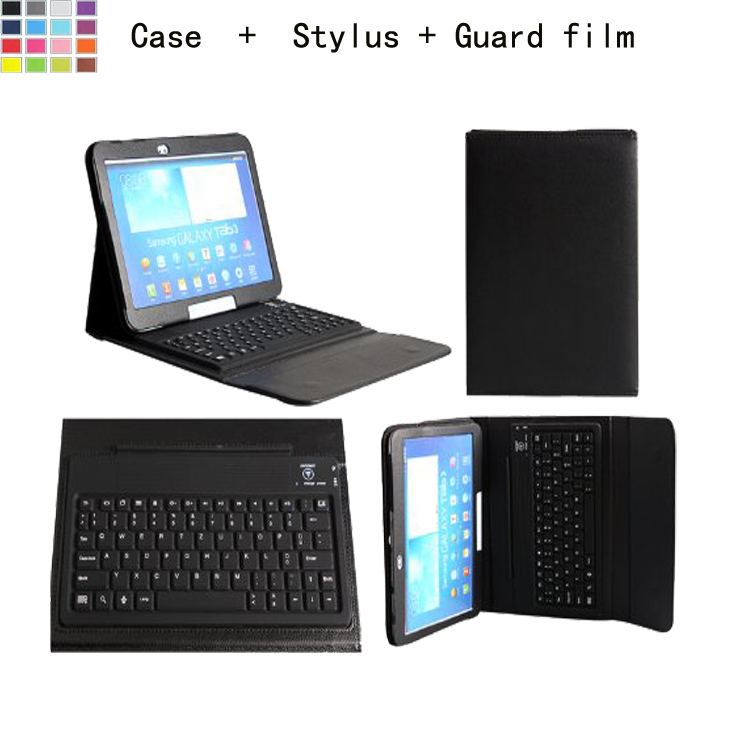 2 Free Gifts Wireless Bluetooth Keyboard Case for Samsung Galaxy Tab 4 10.1 T530 T531 Russian/Spanish Keyboard Language Custom