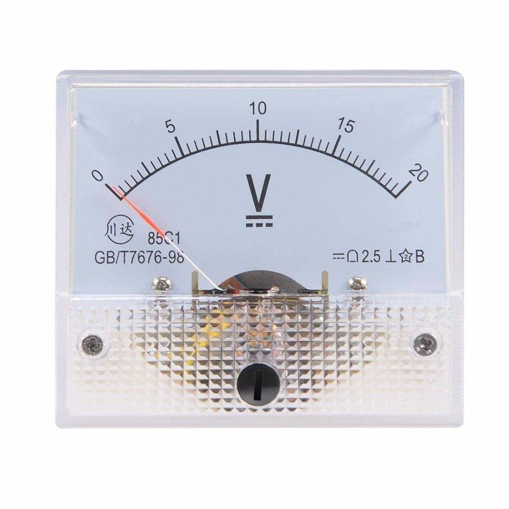Pointer DC Voltmeter DC 0-20V 5V 10V 15V 20V 30V 50V 100V150V 250V 300V 500V Analog Volt Voltage Panel Meter Voltmeter 85C1