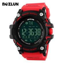 BOZLUN Remote Camera Smart Watch APP Reminder Waterproof Men Sports Watches Pedometer Calories Wristwatches For IOS