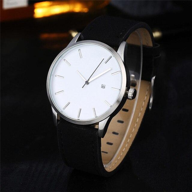 Relogio Masculino 2019 Fashion Military Sport Wristwatch Men Watch Leather Quartz Men's Watch Complete Calendar Watches Clock 4