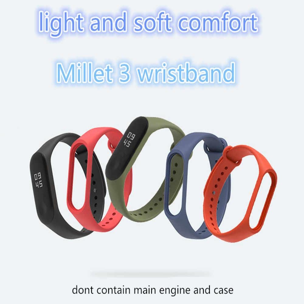 Pulseira de silicone, bracelete para celular Xiaomi Mi Band 3 4 para esportes