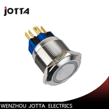 GQ25-11E 25mm momentary LED light Ring Lamp type stainless steel push button switch with flat round стоимость