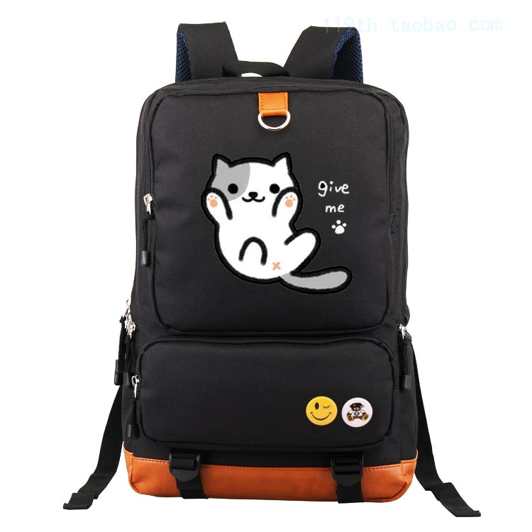 Game Neko Atsume anime backpack male and female students large capacity leisure backpack child birthday gift mva genuine leather men bag business briefcase messenger handbags men crossbody bags men s travel laptop bag shoulder tote bags