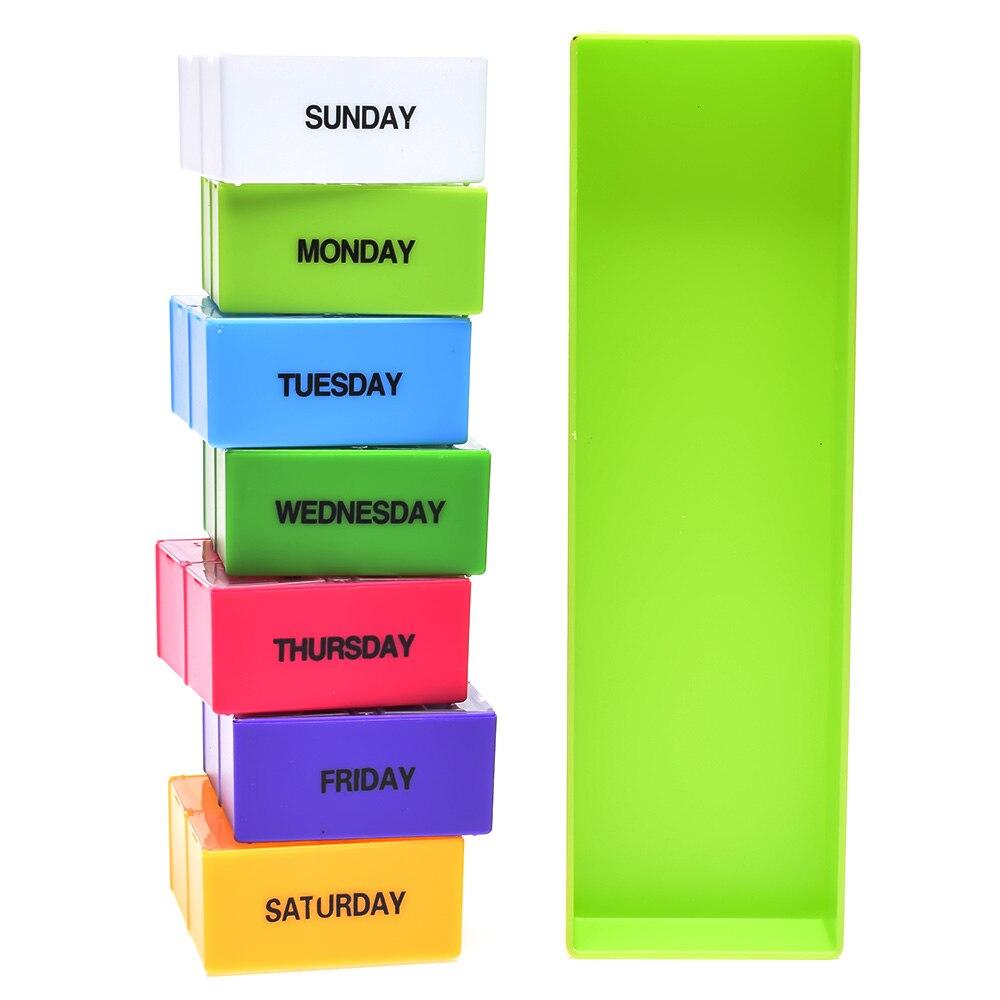 Linsbaywu Новый многоцелевой Пластик Портативный pill box красочные держатель 28 слот Pill Чехол Медицина хранения Организатор Здоровье и гигиена F