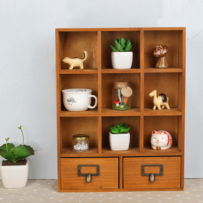 High Quality Office Wall Mounted Storage Box 11 Section Divided Cosmetic Jewelry Cargo Storage Cabinets Hot Sales