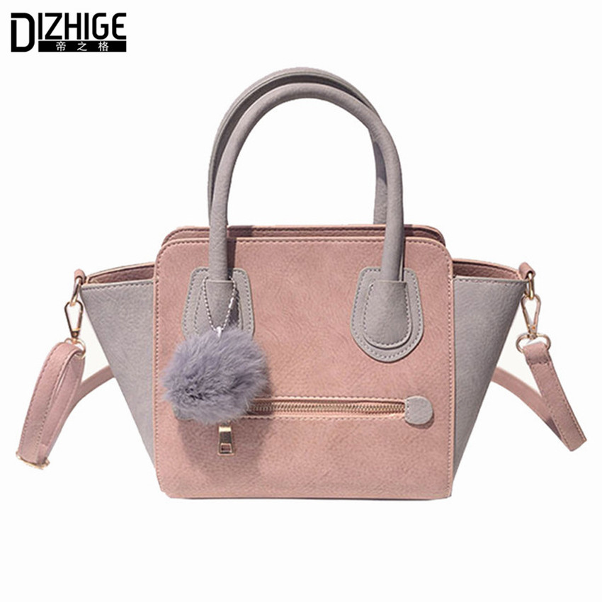 2016 Spring Smiley Pu Leather Tote Bag Women Trapeze Fashion Designer Handbags High Quality