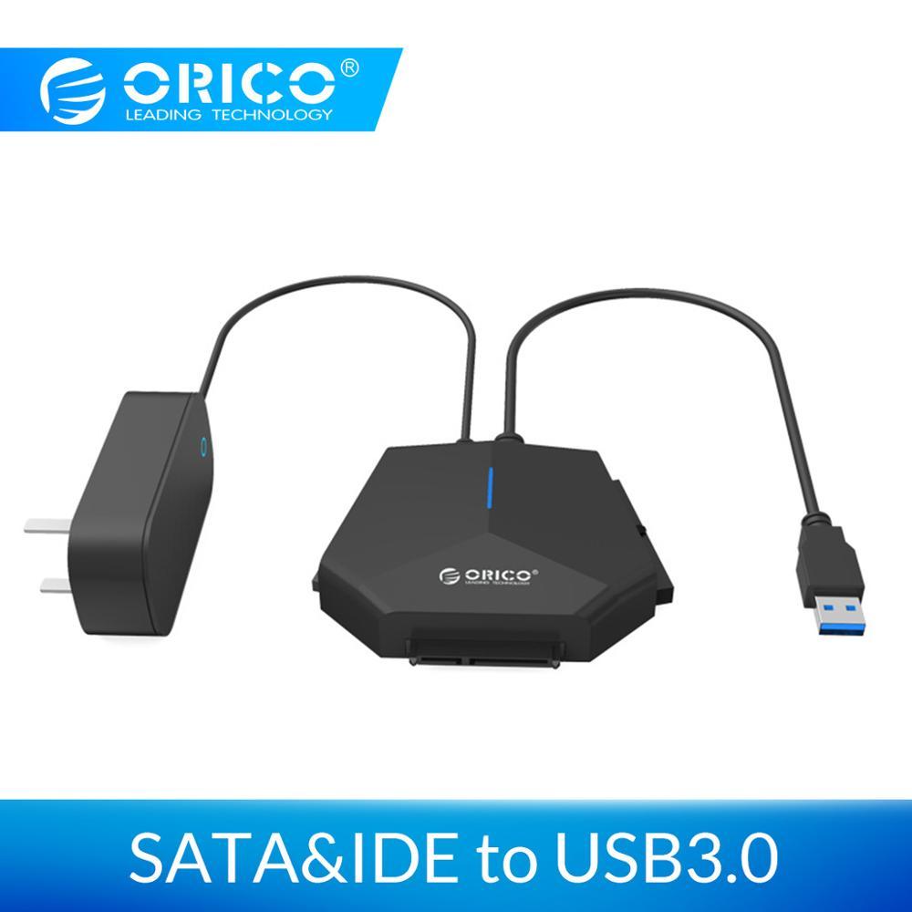 ORICO SATA vers USB 3.0 2.5/3.5 pouce SATA & IDE adaptateur de disque dur 5 Gpbs haute vitesse 12 V adaptateur d'alimentation avec indicateur LED échange à chaud