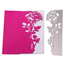 Dolce Vita Rose Flower Lace Border Metal Cutting Dies Christmas Leaf Poinsettia Heart Die Scrapbooking for Card Craft Template