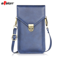 6 3 Universal PU Leather Phone Bag Shoulder Pocket Wallet Pouch Case For Samsung For IPhone