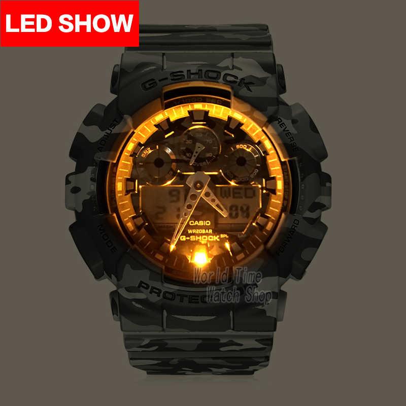 Casio montre g shock watch hommes top marque de luxe LED militaire numérique montre sport étanche montre étanche quartz Limited montre hommes relogio masculino reloj hombre erkek kol saati zegarek meski GA-100CM-8A