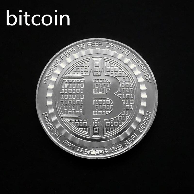 Позолоченная Виртуальная металлическая памятная монета биткоины сувенир искусство коллекционный бизнес подарок праздничное украшение подарок античный Im - Цвет: Bitcoin