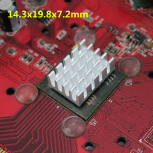 цена на 8PCS / Lot Aluminium Heatsink DDR VGA RAM Memory IC Chipset Heat Sink Cooling 14.3x19.8x7.2mm