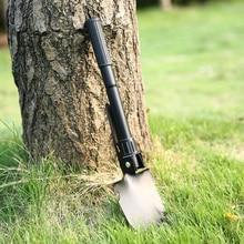 100% BRAND Military Portable Folding Shovel Survival Spade Trowel Dibble Pick Emergency Garden Camping Outdoor Palaplegable Tool недорого