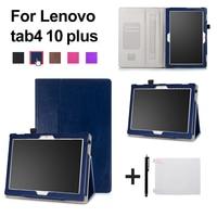 Folio Stand Leather Case For Lenovo TAB 4 10 Plus TB X704N TB X704F Tablet 2017