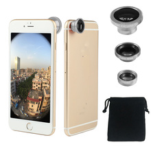 Foleto 3 In 1 Fish Eye Wide Angle Macro Camera Magnetic Lens kit set Universal for iphone