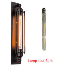 UV/LED בציר אדיסון E27 תעשייתי מנורת קיר מקורה רטרו