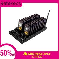 RETEKESS T112 wireless paging system restaurant pager queue restaurant equipment with vibrator 3 Reminder mode for restaurant