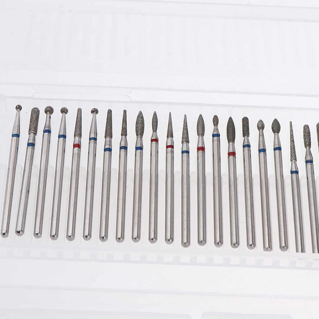 30 Buah 2.35 Mm File Kuku Bor Bit Manikur Electric Grinding Polishing Buffing Head Set Alat Manikur Kit
