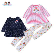 95c1395c Niños bebé niño niñas lindo ropa Polka Dot y arco iris imprimir volantes pantalón  elefante de