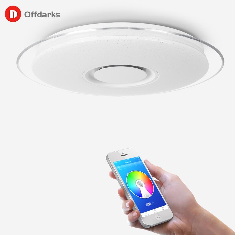 Música inteligente Luzes de teto de LED RGB Pode Ser Escurecido 36 W 52 W 72 W APP controle Remoto Bluetooth Moderno quarto luz lâmpadas lâmpada do teto