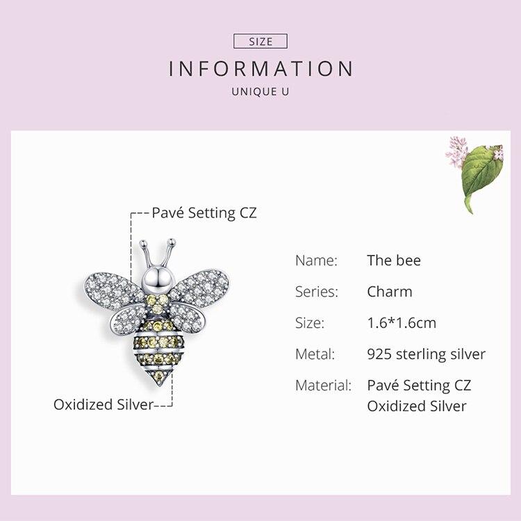 The Kiss Dancing Honey Bee 925 Sterling Silver Bracelet