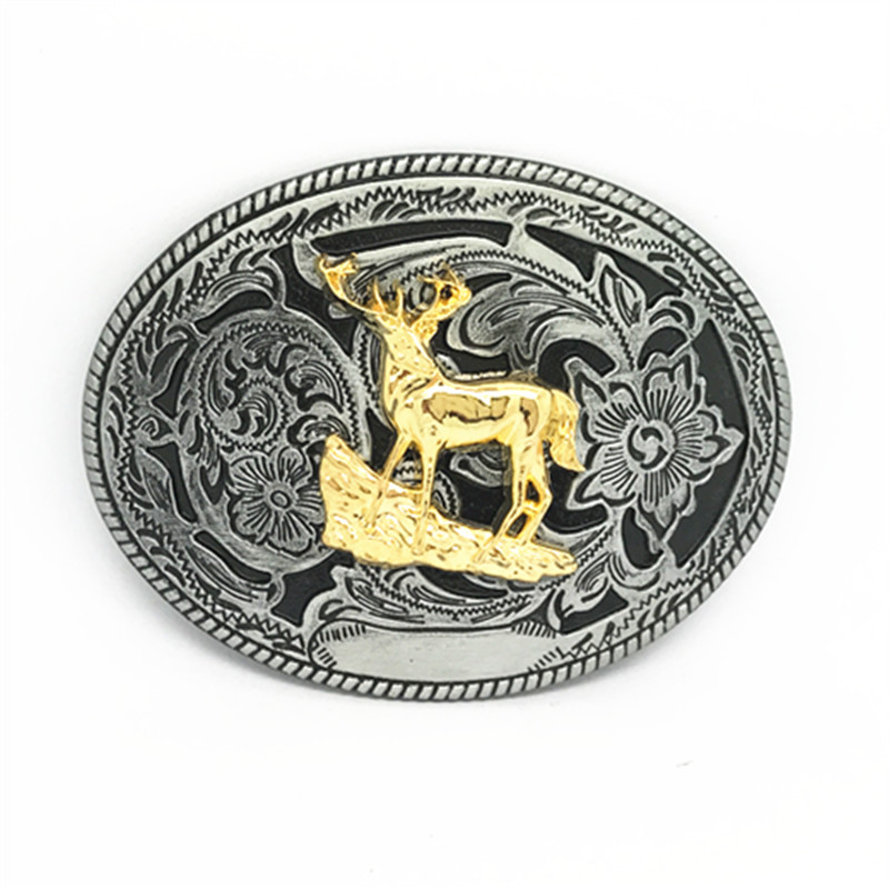 Western Cowboy Belt Buckle Animal Head Retro Design Casual 100 Men Smooth Belt Buckle For A 4.0 Belt