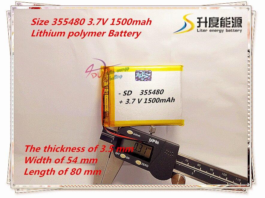 Digital Batterien Beste Batterie Marke Größe 355480 3,7 V 1500 Mah 355580 Lithium-polymer-batterie Mit Schutz Bord Für Mp4 Gps Tablet Pcs SchöNer Auftritt Unterhaltungselektronik
