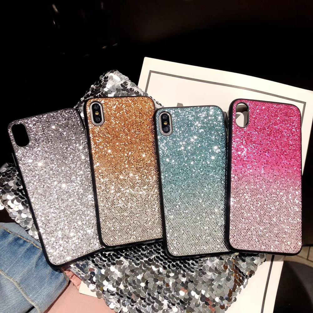 Diamond Rhinestone Plush ball Phone Sticker Silicone Cover Case Bracket For <font><b>iphone</b></font> <font><b>7</b></font> 6 S 8 8plus X XS XR MAX Popular Girl image
