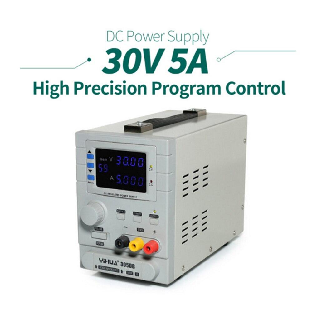 YIHUA 305DB переменный источник питания постоянного тока, несколько/тройной/двойной выход Источник питания постоянного тока 110 В/220 В EU/US PLUG значе