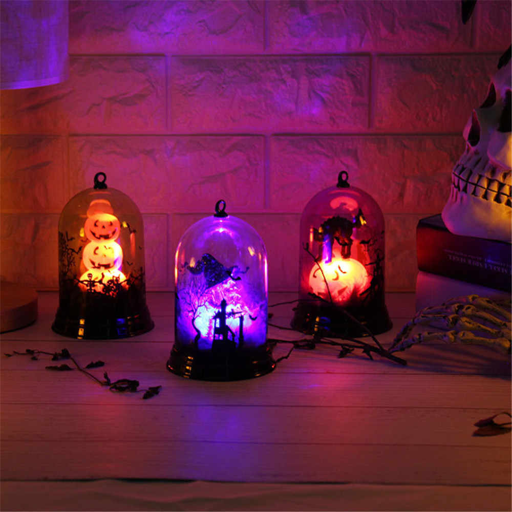 Halloween pumpkin / witch / castle lamp led flashing lights party decoration Halloween decoration haunted house decoration