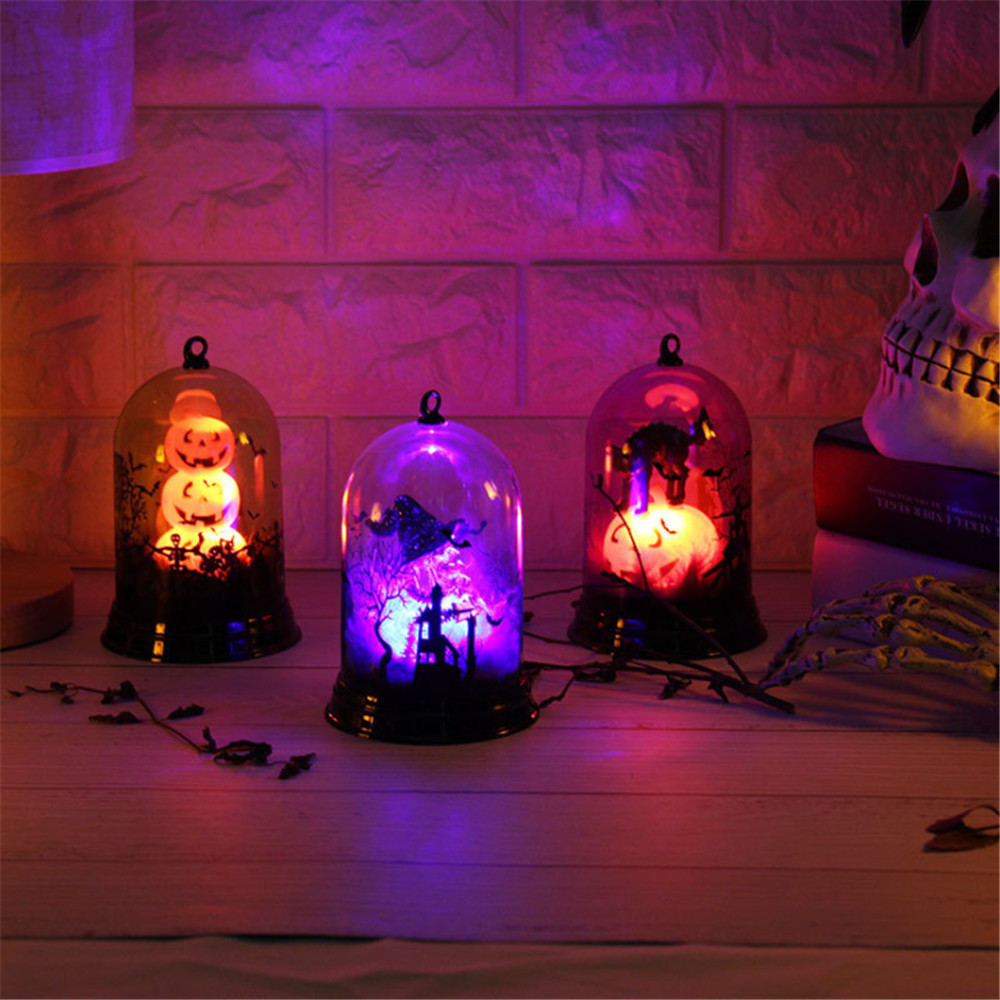 Halloween Pumpkin / Witch / Castle Lamp Led Flashing